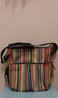Skiphop Duo Diaper Bag in Metro Stripe