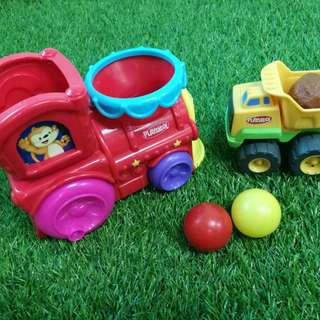 Playskool train and truck