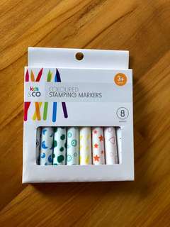 New BNIB Coloured Stamping Markers Stamper Children