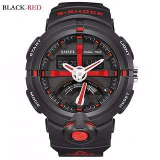 SMAEL digital sport watch w/analog time waterproof 10M 1yr warranty 1637