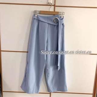 瑕疵優惠貨品直腳打蝴蝶結設計長褲