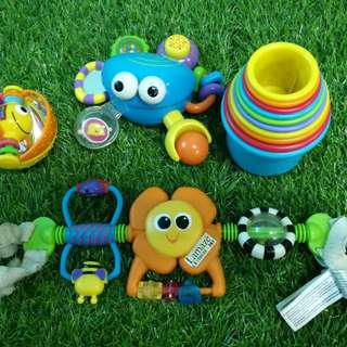 lamaze stroller toy, stacking cups and others