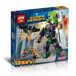 LEPIN™ 07092 DC Super Heroes Lex Luthor Mech Takedown