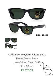 RAYBAN WAYFARER BLACK G15 55
