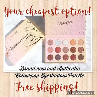 Authentic COLOURPOP Golden State of Mind Eyeshadow Palette