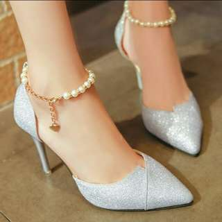 PO Stiletto beaded high heel ladies shoes *waiting time 10-12 days after payment is made *pm to order