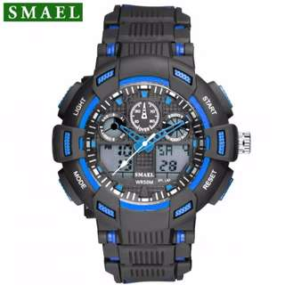SMAEL digital sport watch with analog time waterproof 10M 1yr warranty 1366C