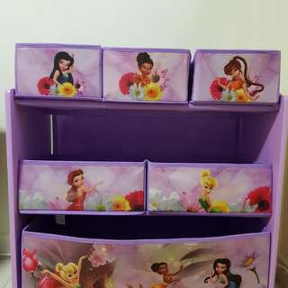 Disney Multi-Bin Toy Organisation, Tinker Bell