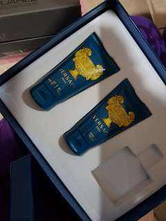 Versace shave balm and shower gel