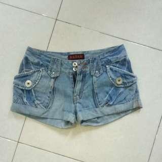 Mini blue jeans