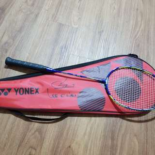 AUTHENTIC Lee Chong Wei autographed badminton bag and a Brand New Duora 88 racket