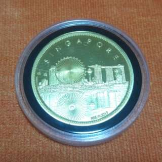 24k Gold Plated Singapore Coin