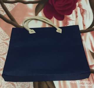 🚚 手提袋 手提包(深藍)