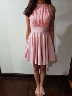 Sweet Pink Casual Dinner dress