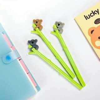 Pulpen Gel Lucu Unik Murah Bamboo Koala Fancy Pen