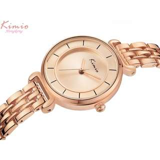 ORIGINAL HK KIMIO ladies watch stainless bracelet 1yr warranty KW6028S-G05