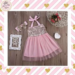🔊Clearance Sale! Baby Party Dress + Headband