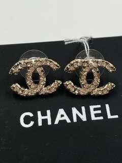Chanel Earrings 經典 寶石 大logo 耳環全新購自巴黎
