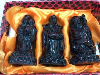 Fu Lu Shou 福禄寿 handicraft statues