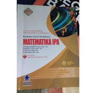 Buku Kumpulan Soal Matematika IPA SBMPTN SIMAK UI UM UGM UMB Ganesha Operation GO