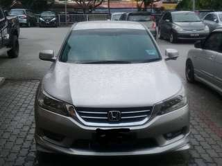 SAMBUNG BAYAR/CONTINUE LOAN  HONDA ACCORD 2.4 I-VTEC FULLSPEC YEAR 2014 MONTHLY RM 1250 BALANCE 5 YEARS + ROADTAX FEB 2019 FULL SKIRTING  DP KLIK wasap.my/60133524312/accord