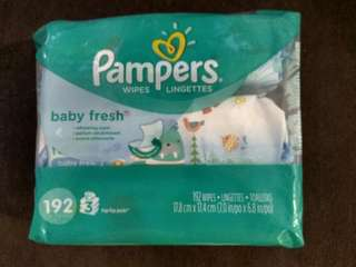 Pampers baby fresh wipes 3's