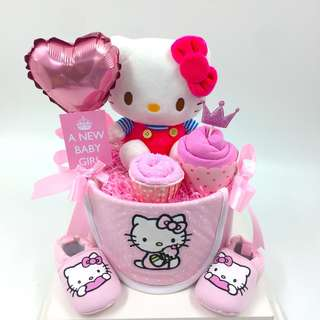 Hello Kitty Baby Diapers Cake - Ready Stock