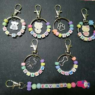 Personalize name keychains