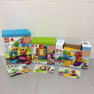 Preloved 3 sets of Lego Duplo Toddler Starter Sets