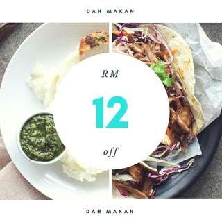 Dah Makan Promo Code RM12 Off