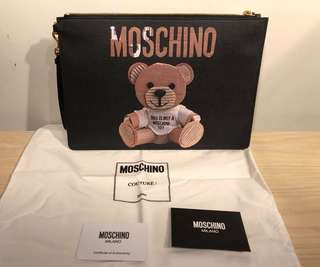 Moschino Clutch Bag (紙皮熊 bear 手包)