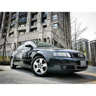 全額貸。2003年 奧迪 A4 2.0L 小白信用不良皆可貸 可履約保證無重大事故泡水非營業用車