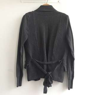 🚚 鐵灰系厚針織罩衫外套