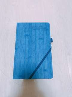 Single line note book with blue hard cover / writing book