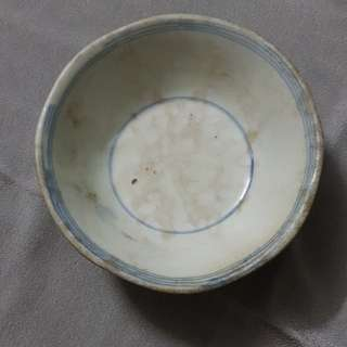 Sales. Blue and white bowl