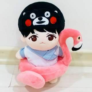 WTS Doll Outfit Kookie Clothing Flamingo Tube