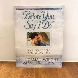 "Before You Say ""I Do"" Book (Get FREE Small Pouch)"