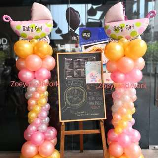 Baby shower balloon decoration @zoeyhandiwork