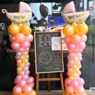 Baby shower balloon decoration @zoeyhandiwork
