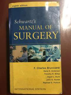 Schwartz's Manual of Surgery 8th edition