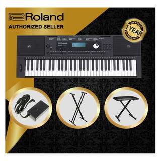 The Pianist Studio | Authorized Seller - Roland E-X20 61 Keys Arranger Keyboard Piano with Keyboard Stand and Keyboard Bench
