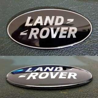Emblem Mobil Land Rover Black Silver Aluminium.2pcs