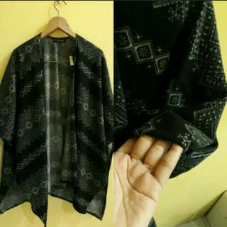 sixence outer outwear cardigan in black