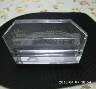 罕有Hong Kong Ferry 紀念品 ----水晶 卡片座