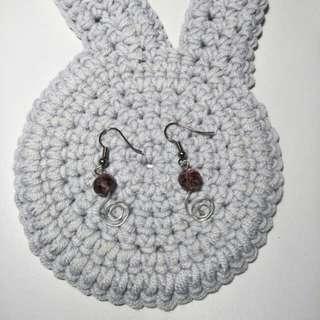 Handmade Purple Whirl Earrings