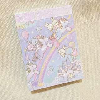 Pony Unicorn Pastel Pastels Magic Magical Memo Notebook Notepad Rainbow Rainbows Sparkle Sparkly Stationary Stationery Cool Cute Cutesy Harajuku Japan Japanese Kawaii Korea Korean Lolita Pretty Vintage y2k 90s