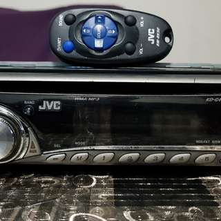 JVC MP3 car audio with remote