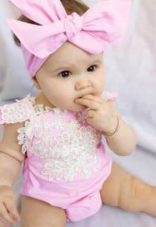 FLORA LACE BABY ROMPERS