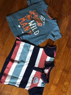 Two T-Shirts for boys 12-18 mo