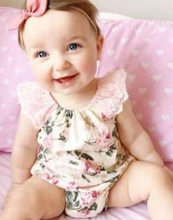 FLORAL BABY ROMPERS
